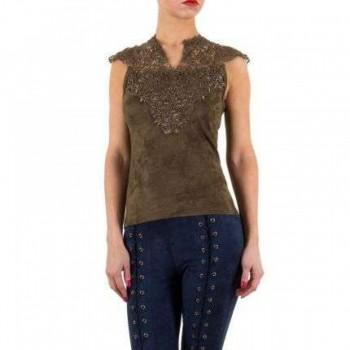 Bluza Damen Bluse - khaki 505454BLZGER