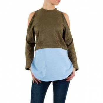 Bluza Damen Bluse - khaki 718940BLZGER