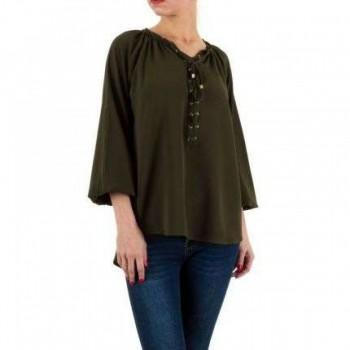 Bluza Damen Bluse - khaki 569438BLZGER