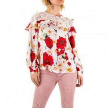 Bluza Damen Bluse - white 382144BLZGER