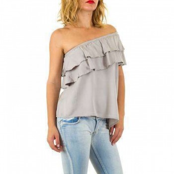 Bluza Damen Bluse - grey 875109BLZGER