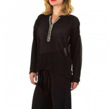 Bluza Damen Bluse - black 877409BLZGER
