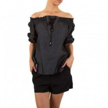 Bluza Damen Bluse - black 219032BLZGER