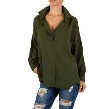 Bluza Damen Bluse - khaki 555271BLZGER