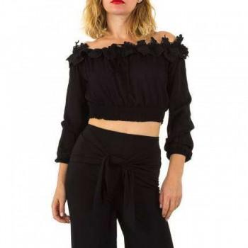 Bluza Damen Bluse - black 236398BLZGER