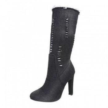 Cizme Damen High Heel Stiefeletten - black 407109CIZGER