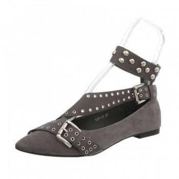 Pantofi Damen Ballerinas - grey 801612PANGER