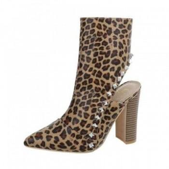 Pantofi Damen High Heel Stiefeletten - leopard 837832PANGER