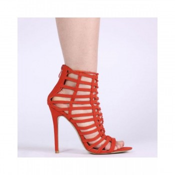Pantofi Dama Cra Stiletto Orange Faux, Shoes UK