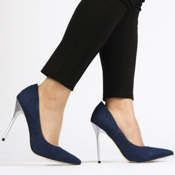 Pantofi Dama Josie Stiletto Denim Blue, Shoes UK