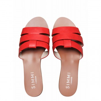 Brooke Red Cutout Sliders